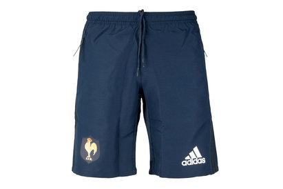 adidas France 2018 Players Woven Rugby Training Shorts