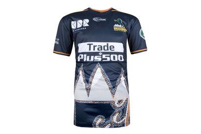 Classic Sportswear Brumbies 2018 Super Rugby Kids Captains Run T-Shirt