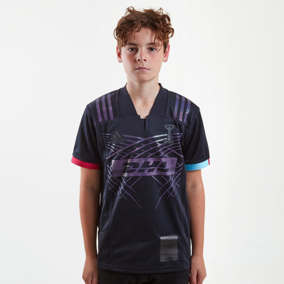 adidas Harlequins 2018/19 3rd Kids S/S Replica Rugby Shirt