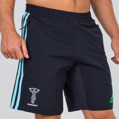 adidas Harlequins 2018/19 Players Woven Rugby Training Shorts