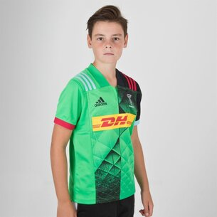 adidas Harlequins 2018/19 Alternate Kids S/S Rugby Shirt