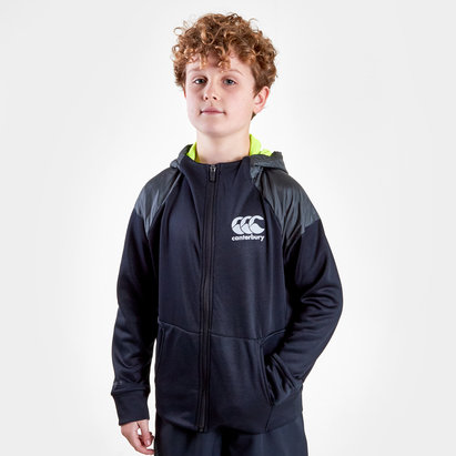 Canterbury Vaposhield Kids Full Zip Hooded Rugby Sweat