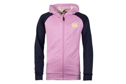 Canterbury Poly Fleece Girls Full Zip Hooded Sweat
