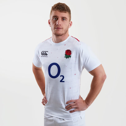 990ac1c58d42 Canterbury England 2018 19 Home S S Players Test Rugby Shirt