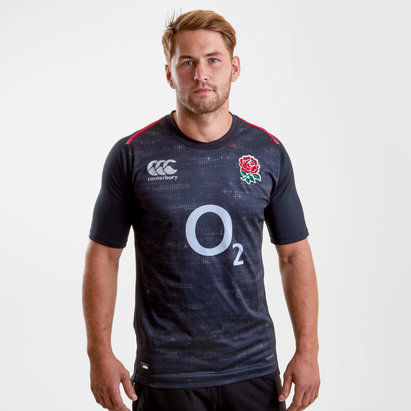Canterbury England 2018/19 Alternate Pro S/S Rugby Shirt