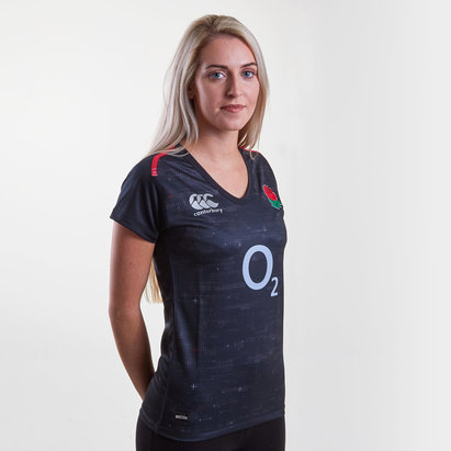 Canterbury England 2018/19 Ladies Alternate Pro S/S Rugby Shirt