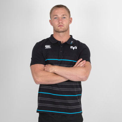 Canterbury Ospreys 2018/19 Cotton Stripe Polo Shirt