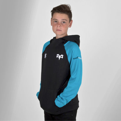 Canterbury Ospreys 2018/19 Kids Hybrid Hooded Rugby Sweat
