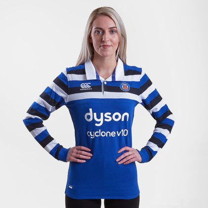 Canterbury Bath 2018/19 Home Ladies L/S Classic Rugby Shirt