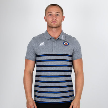 Canterbury Bath 2018/19 Cotton Stripe Rugby Polo Shirt