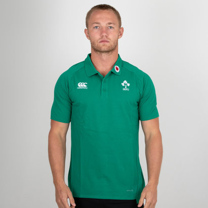 Canterbury Ireland IRFU 2018/19 Performance Cotton Rugby Polo Shirt