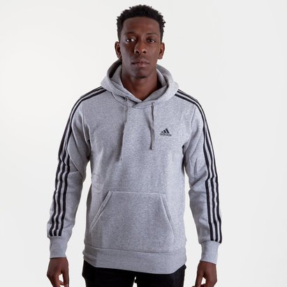 adidas Essential 3 Stripe Hooded Sweat