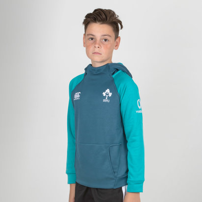 Canterbury Ireland IRFU 2018/19 Kids Hybrid Hooded Rugby Sweat