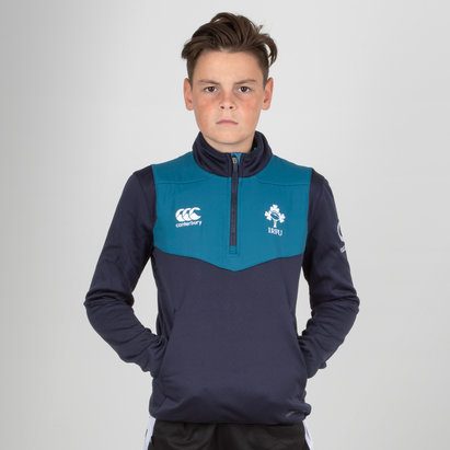 Canterbury Ireland IRFU 2018/19 Kids 1/4 Zip Rugby Training Top