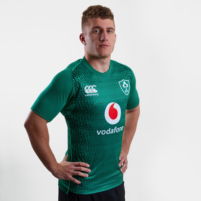ac44cd1b4e1 Canterbury Ireland IRFU 2018/19 Home Players Test S/S Rugby Shirt