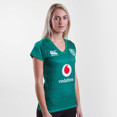 9c703922586 Canterbury Ireland IRFU 2018/19 Ladies Home Pro S/S Rugby Shirt