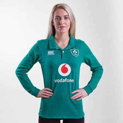 Canterbury Ireland IRFU 2018/19 Ladies Home Classic L/S Rugby Shirt