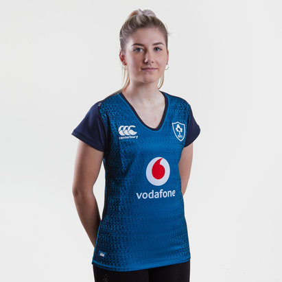 Canterbury Ireland IRFU 2018/19 Ladies Alternate Pro S/S Rugby Shirt