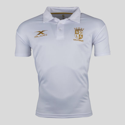 X Blades New Orleans Gold MLR 2018 Players Rugby Polo Shirt