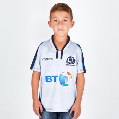 Macron Scotland 2018/19 Alternate Kids S/S Replica Rugby Shirt
