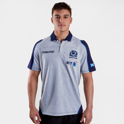 Macron Scotland 2018/19 Alternate Cotton S/S Replica Rugby Shirt