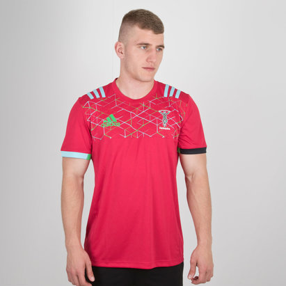 adidas Harlequins 2018 Players Performance Rugby T-Shirt