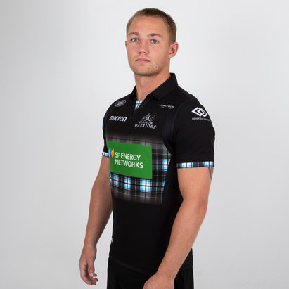 Macron Glasgow Warriors 2018/19 Players Home Test S/S Rugby Shirt