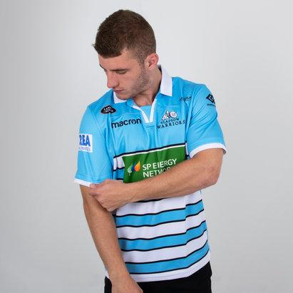 3a2b15058 Macron Glasgow Warriors 2018 19 Alternate S S Replica Rugby Shirt