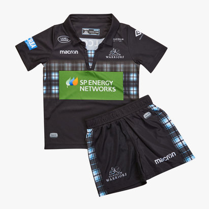 198abc30e Macron Glasgow Warriors 2018 19 Kids Home Rugby Kit