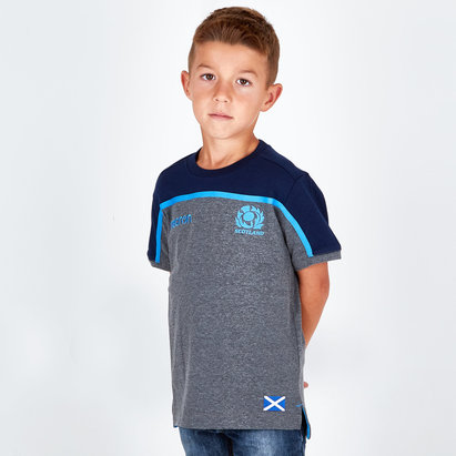 Macron Scotland 2018/19 Kids Travel Rugby T-Shirt