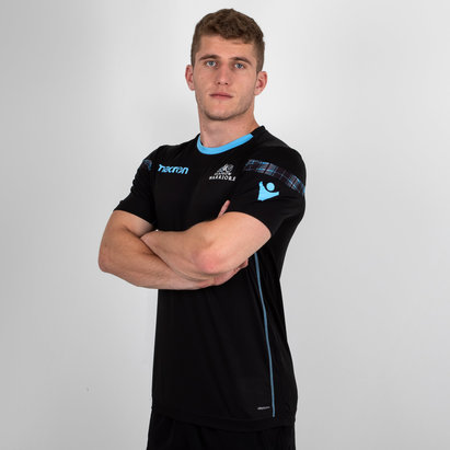 Macron Glasgow Warriors 2018/19 Players Dry Rugby Training T-Shirt