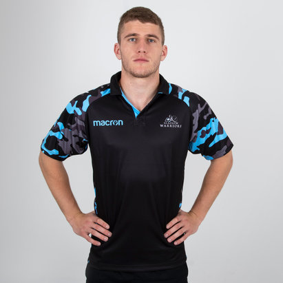 Macron Glasgow Warriors 2018/19 Players Warm Up Rugby Shirt