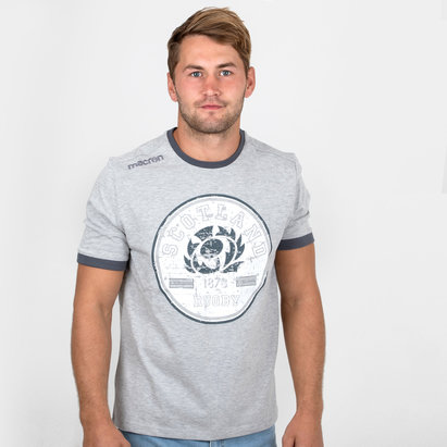 Macron Scotland 2018/19 Travel Rugby T-Shirt