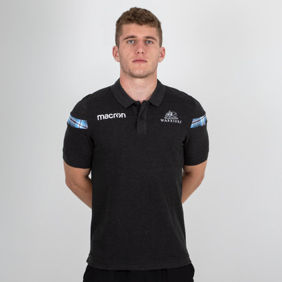Macron Glasgow Warriors 2018/19 Cotton Piquet Rugby Polo Shirt