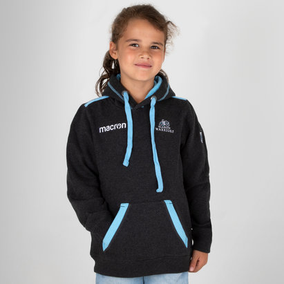 Macron Glasgow Warriors 2018 Kids Heavy Cotton Hooded Rugby Sweat