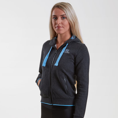 Macron Glasgow Warriors 2018/19 Ladies Cotton Hooded Rugby Sweat