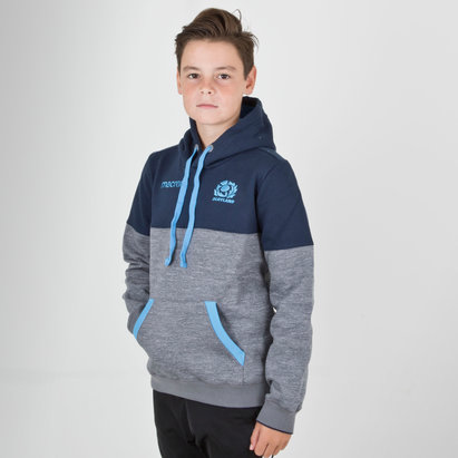 Macron Scotland 2018/19 Kids Travel Hooded Rugby Sweat