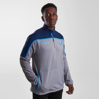 Macron Scotland 2018/19 Players 1/4 Zip Rugby Training Top