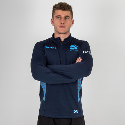 Macron Scotland 2018/19 Performance 1/4 Zip Rugby Training Top