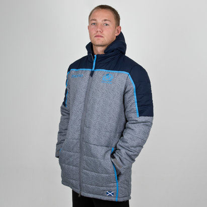 Macron Scotland 2018/19 Players Travel Long Padded Rugby Jacket
