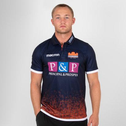 Macron Edinburgh 2018/19 Home Pro S/S Rugby Shirt