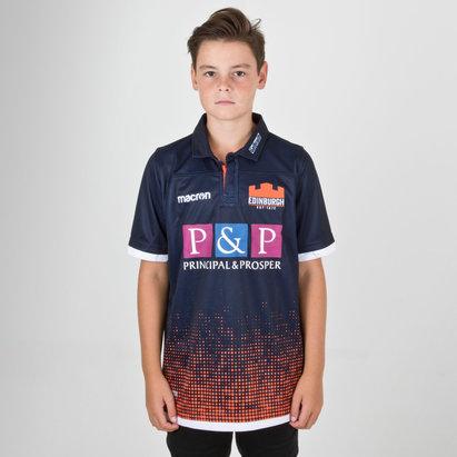 Macron Edinburgh 2018/19 Home Pro Kids S/S Rugby Shirt