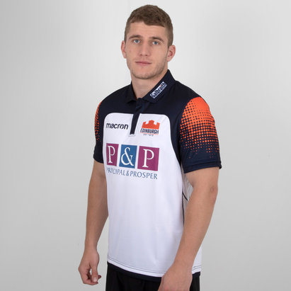 Macron Edinburgh 2018/19 Alternate Pro S/S Rugby Shirt