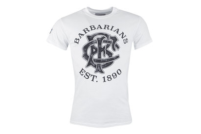 Kooga Barbarians 2017/18 Logo Print Rugby T-Shirt