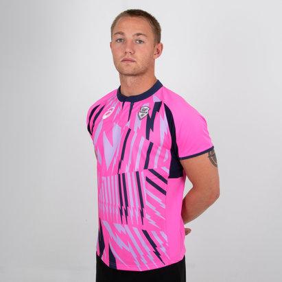 Asics Stade Francais 2018/19 Alternate S/S Rugby Shirt