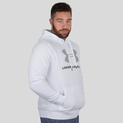 Under Armour Rival Fitted Graphic Fleece Hooded Sweat