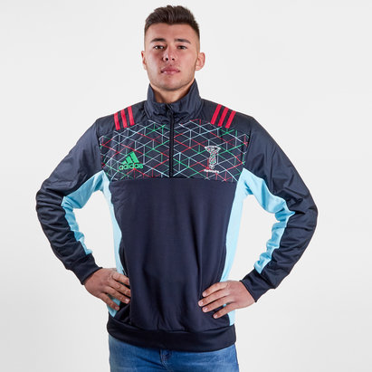 adidas Harlequins 2018/19 Players Fleece Rugby Jacket