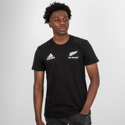 adidas New Zealand All Blacks 2018 Cotton Rugby T-Shirt 4ccfd00c81afd
