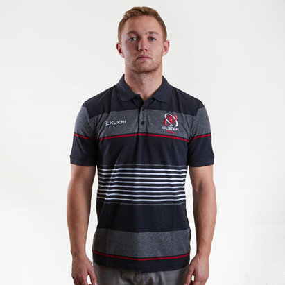 Kukri Ulster 2018/19 Yarn Dye Knitted Rugby Polo Shirt