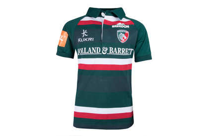Kukri Leicester Tigers 2017/18 Kids Home Classic S/S Rugby Shirt